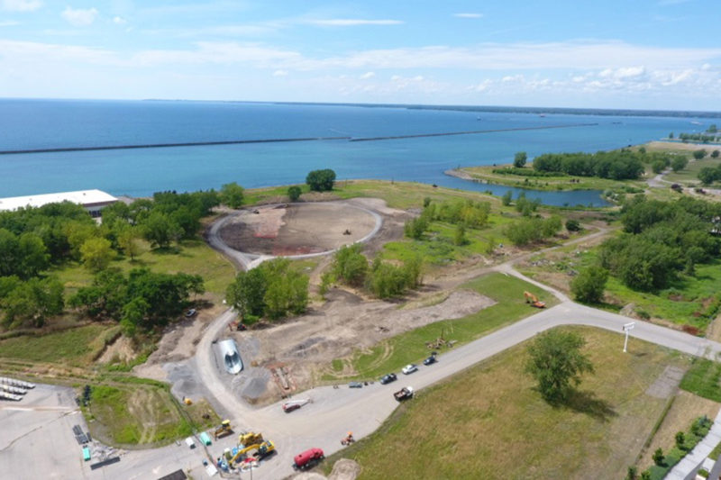 Construction continues on bike park and habitat enhancements for Buffalo's Outer Harbor