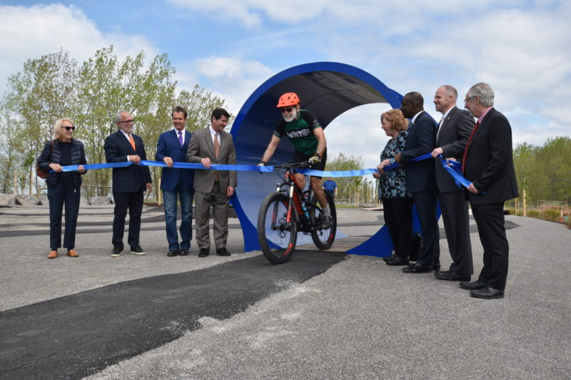 Ribbon Cutting at Lakeside Bike Park