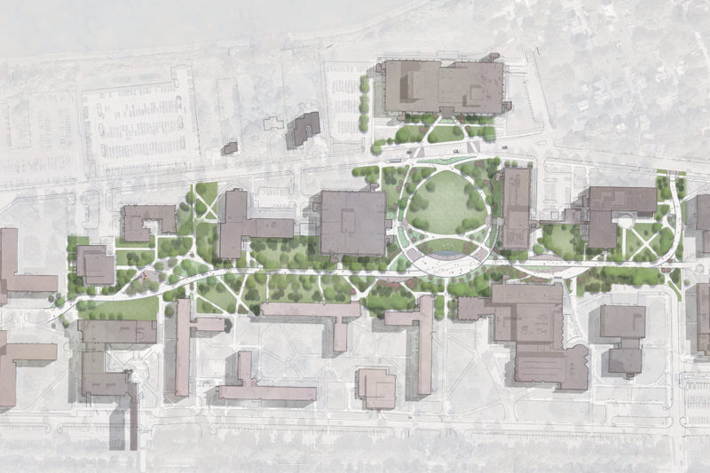 TWMLA Site Design Will Revitalize Campus Core at SUNY College at Brockport