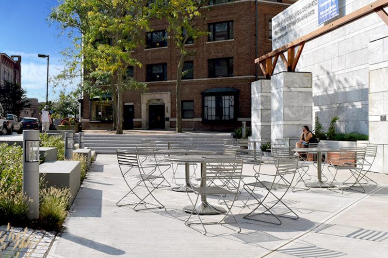 TWMLA's Schwartz Center Plaza Project Wins Upstate New York ASLA Merit Award